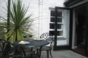 Patio, 1 Bethany Place, Self-Catering, St Just, Cornwall
